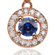 "Load image into Gallery viewer, 0.6 TCW 14K Yellow Gold Blue Sapphire ""Carole"" Earrings"