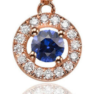 "0.6 TCW 14K Yellow Gold Blue Sapphire ""Carole"" Earrings"