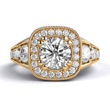 "Load image into Gallery viewer, 1.8 Carat 14K White Gold Diamond ""Elizabeth"" Engagement Ring"