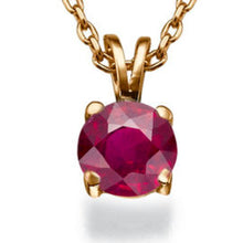 "Load image into Gallery viewer, 0.3 Carat 14K Yellow Gold Ruby ""Una"" Pendant 