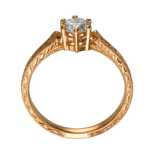"Load image into Gallery viewer, 1.2 Carat 14K Yellow Gold Moissanite ""Sarah"" Engagement Ring"