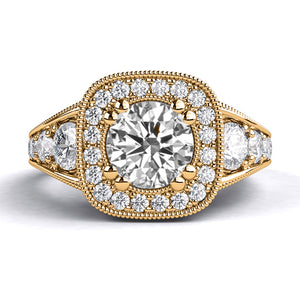 "1.8 TCW 14K Rose Gold Diamond ""Elizabeth"" Engagement Ring"
