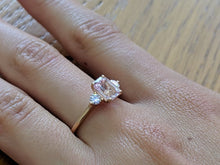 "Load image into Gallery viewer, 1.7 Carat 14K White Gold Morganite & Diamonds ""Leona"" Engagement Ring"