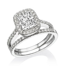 "Load image into Gallery viewer, 1.7 Carat 14K Yellow Gold Moissanite & Diamonds ""Maile"" Wedding Set"