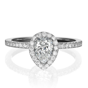 "1.4 Carat 14K White Gold Moissanite & Diamonds ""Caroline"" Engagement Ring"