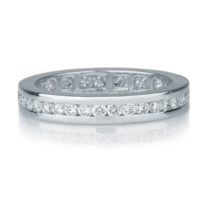 "1.4 TCW 14K White Gold Diamond ""Sarrah"" Wedding Band"