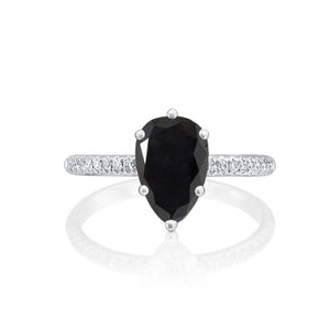 "1.7 Carat 14K Rose Gold Black Diamond ""Lucy"" Engagement Ring"