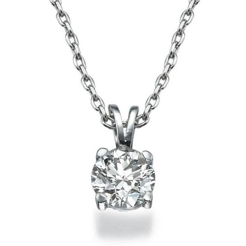 0.4 Carat 14K White Gold Diamond