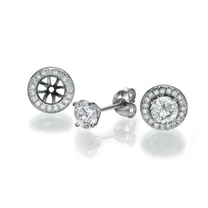 "2 Carat 14K White Gold Diamond ""Marian"" Earrings"