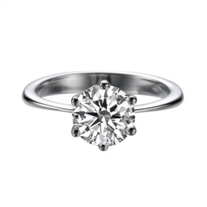 "1.5 Carat 14K White Gold Moissanite ""Abby"" Engagement Ring - Diamonds Mine"