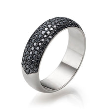 "Load image into Gallery viewer, 1.5 TCW 14K White Gold Black Diamond Lauren"" Wedding Band"