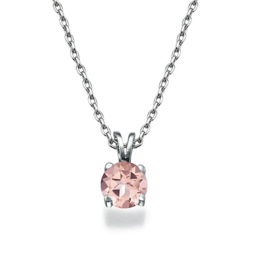 1.5 Carat 14K White Gold Morganite