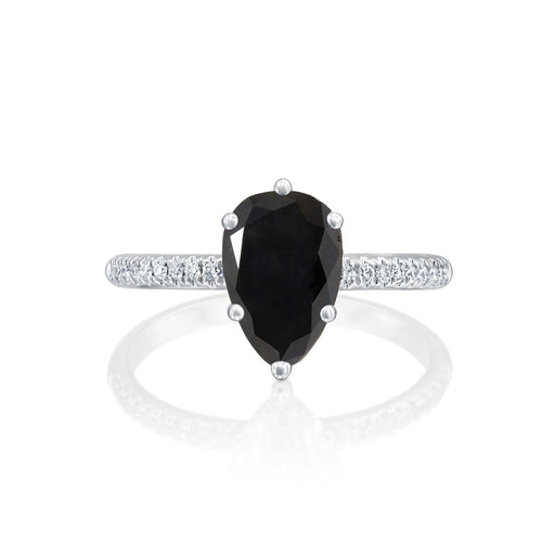 2.2 Carat 14K White Gold Black Diamond