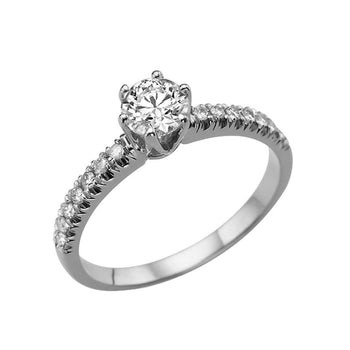 1.2 Carat 14K White Gold Moissanite & Diamonds