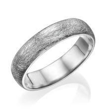 Load image into Gallery viewer, 5MM 14K White Gold Brushed Finish Men Wedding Band