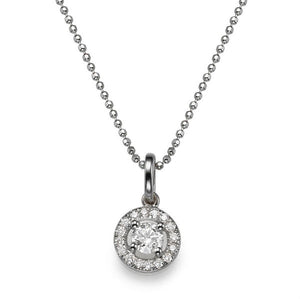 "0.6 TCW 14K White Gold Diamond ""Carole"" Pendant"