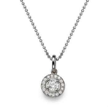 0.6 TCW 14K White Gold Diamond