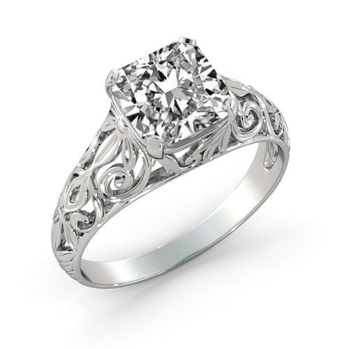 2.4 Carat 14K White Gold Moissanite