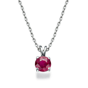 0.3 Carat 14K White Gold Ruby