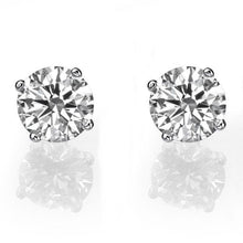 "Load image into Gallery viewer, 1 TCW 14K White Gold Diamond ""Una"" Earrings"