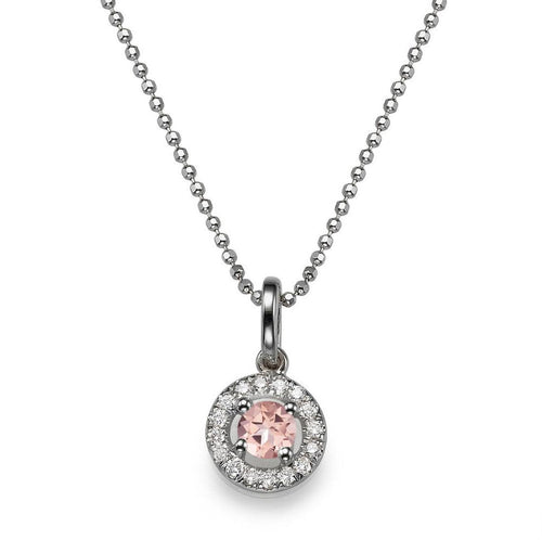 1.1 TCW 14K White Gold Morganite