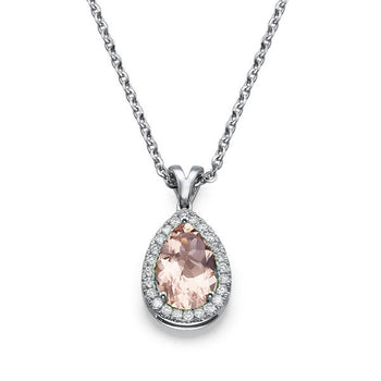 2.25 TCW 14K White Gold Morganite
