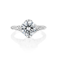 "Load image into Gallery viewer, 2.1 Carat 14K Yellow Gold Moissanite & Diamonds ""Patricia"" Engagement Ring"