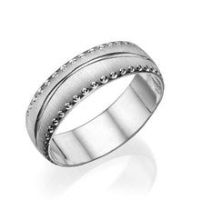 Load image into Gallery viewer, 6MM 14K White Gold Rounded Modern Wedding Band