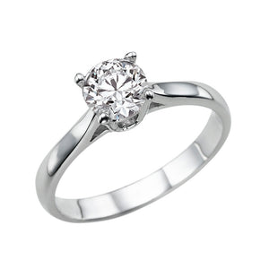 "1 Carat 14K White Gold Forever One Moissanite ""Fairy"" Engagement Ring"
