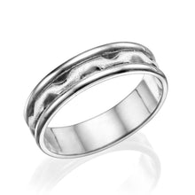 Load image into Gallery viewer, 5.5MM 14K White Gold Satin Center Men Wedding Band