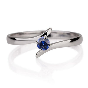 "0.2 Carat 14K Rose Gold Blue Sapphire ""Isabel"" Engagement Ring"