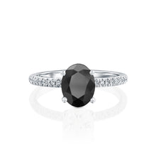 "Load image into Gallery viewer, 1.6 Carat 14K Rose Gold Black Diamond ""Shanon"" Engagement Ring"