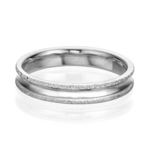 Load image into Gallery viewer, 4MM 14K White Gold Simple Men Wedding Band