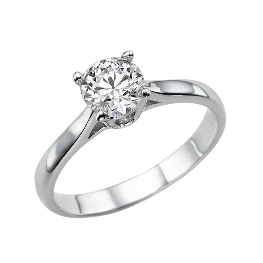 0.7 Carat 14K White Gold Diamond
