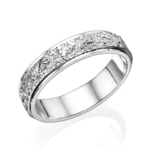 Load image into Gallery viewer, 14K White Gold Vintage Men Wedding Band