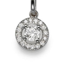 "Load image into Gallery viewer, 0.6 TCW 14K White Gold Diamond ""Carole"" Pendant"
