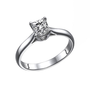 "1 Carat 14K White Gold Diamond ""Fortune"" Engagement Ring"