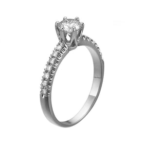 "1 Carat 14K White Gold Lab Grown Diamond ""Venetia"" Engagement Ring"