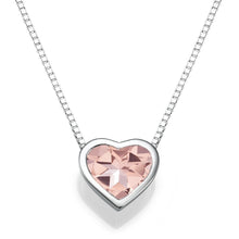 "Load image into Gallery viewer, 1.5 TCW 14K White Gold Morganite ""Heart"" Pendant 