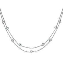 "Load image into Gallery viewer, 1.35 TCW 18K White Gold Diamond ""Naila"" Necklace"