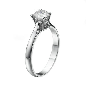 "1 Carat 14K White Gold Forever One Moissanite ""Fairy"" Engagement Ring 