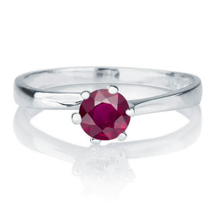 "0.3 Carat 14K White Gold Ruby ""Chelsea"" Engagement Ring"