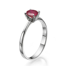 "Load image into Gallery viewer, 0.2 Carat 14K Rose Gold Ruby ""Vivian"" Engagement Ring"