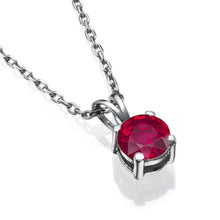 "Load image into Gallery viewer, 0.3 Carat 14K Yellow Gold Ruby ""Una"" Pendant"