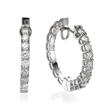 "Load image into Gallery viewer, 1 TCW 18K White Gold Diamond ""Becki"" Earrings"