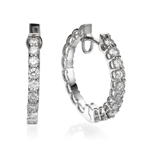 "1 Carat 18K White Gold Diamond ""Becki"" Earrings 