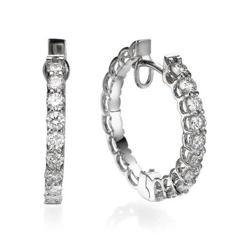 1 TCW 18K White Gold Diamond