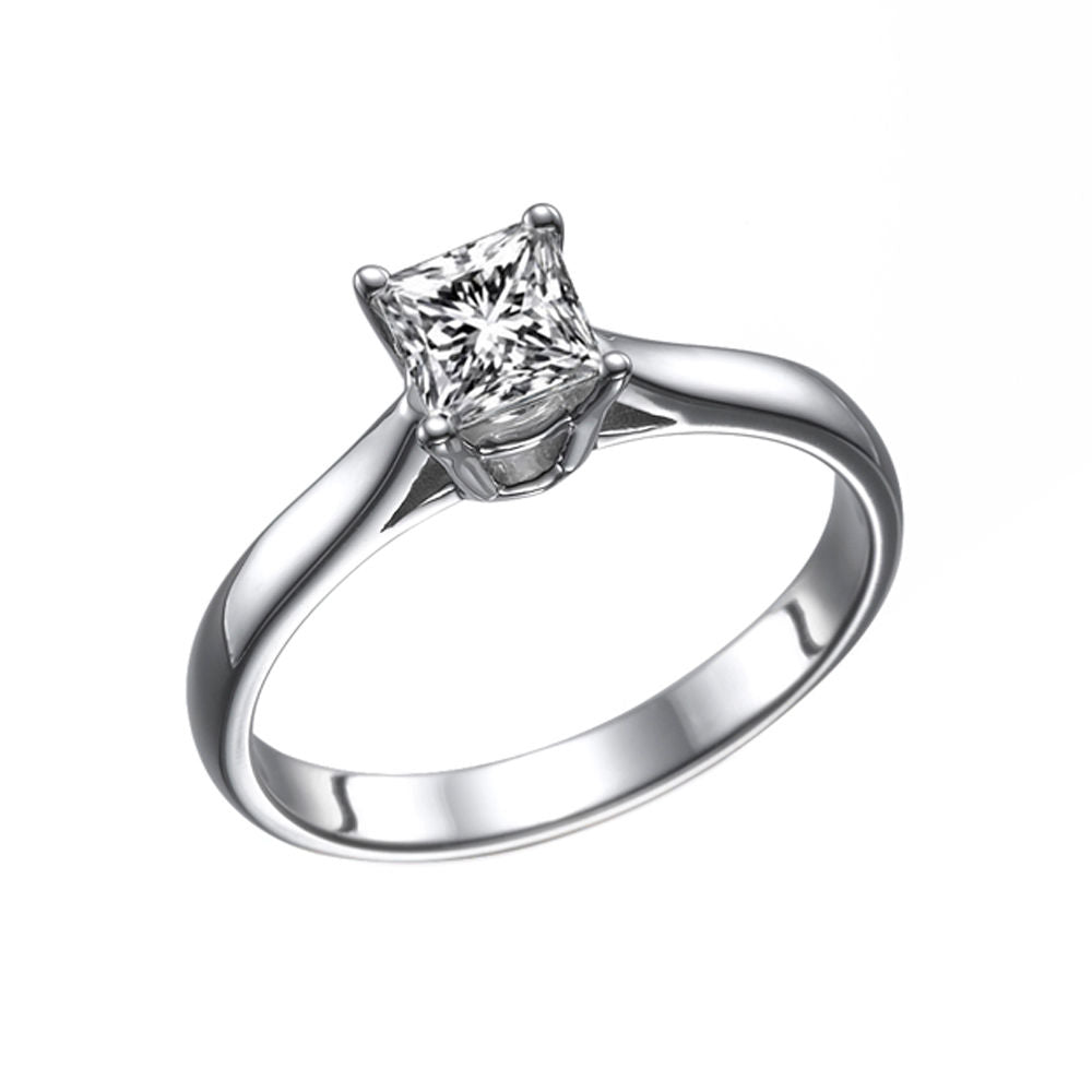 0.7 Carat 14K White Gold Lab Grown Diamond