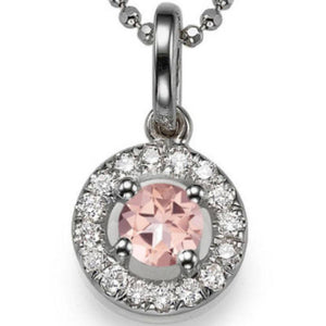 "1.1 TCW 14K White Gold Morganite ""Carole"" Pendant"