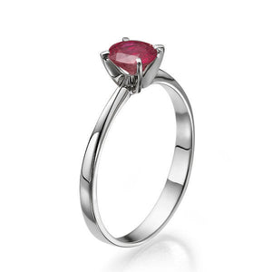 "0.2 Carat 14K White Gold Ruby ""Vivian"" Engagement Ring"